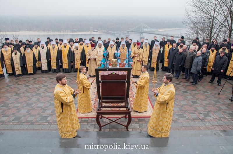 Єпископ Боярський Феодосій взяв участь у щорічному подячному молебні біля пам'ятника св. рівноап. князю Володимиру