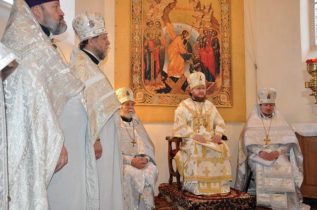 Епископ Боярский Феодосий возглавил соборное богослужение в Подольском благочинии