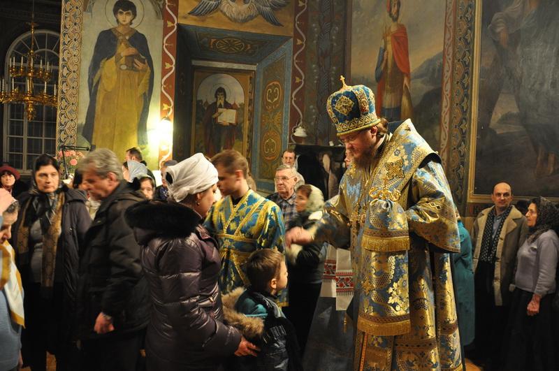 Єпископ Боярський Феодосій звершив всенічне бдіння напередодні свята Стрітення Господнього