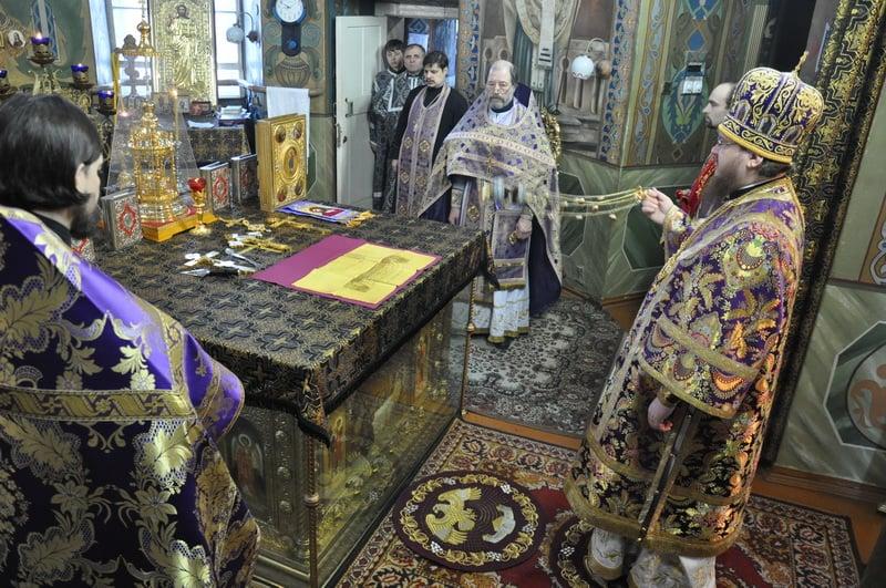 Епископ Боярский Феодосий совершил Литургию в день памяти 40 мучеников Севастийских