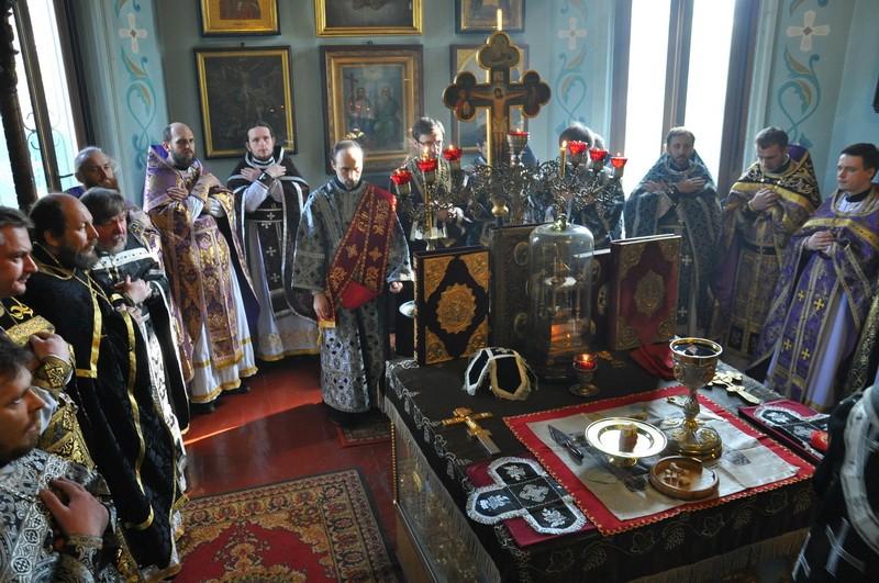 Состоялись соборная Литургия и общее говение духовенства первого Шевченковского благочиния