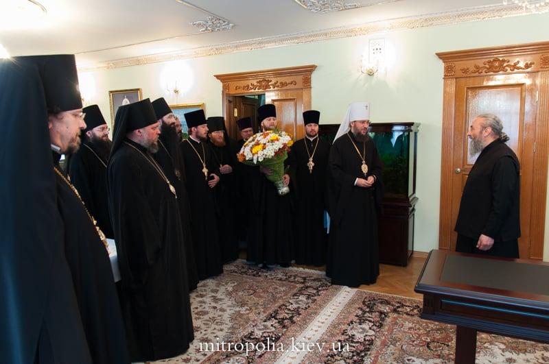 Єпископ Боярський Феодосій взяв участь у привітанні Місцеблюстителя Київської митрополичої кафедри з Днем тезоіменитства