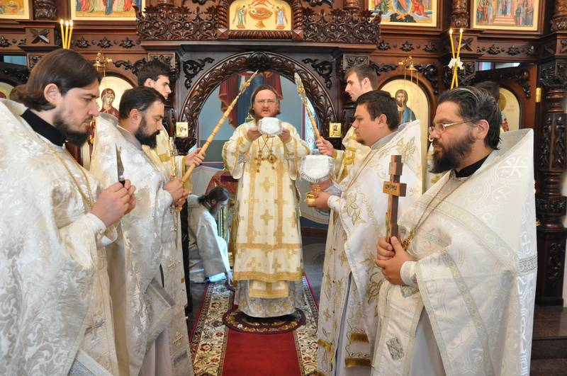 У день престольного свята єпископ Боярський Феодосій очолив Божественну літургію в храмі при управлінні Державної Пенітенціарної служби України