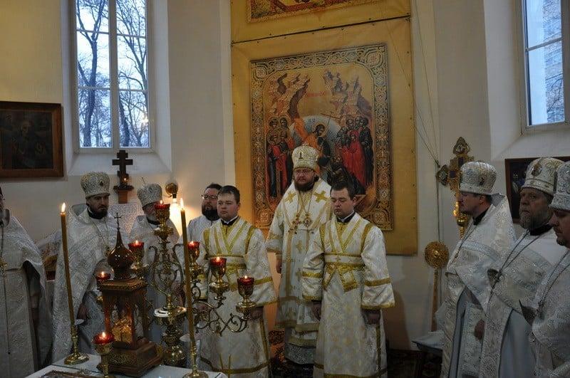 Єпископ Боярський Феодосій очолив соборне служіння настоятелів храмів Подільського району