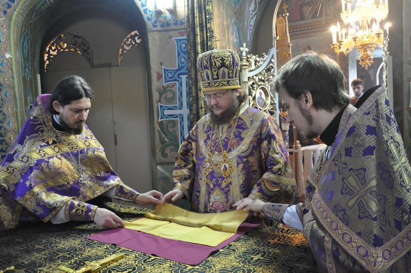 Епископ Боярский Феодосий совершил Литургию в Неделю Торжества Православия