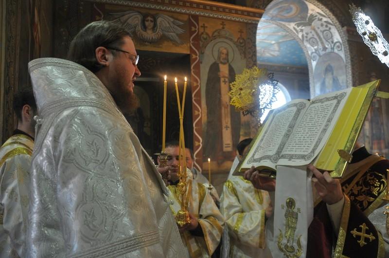 Єпископ Боярський Феодосій звершив всенічне бдіння напередодні свята Вознесіння Господнього