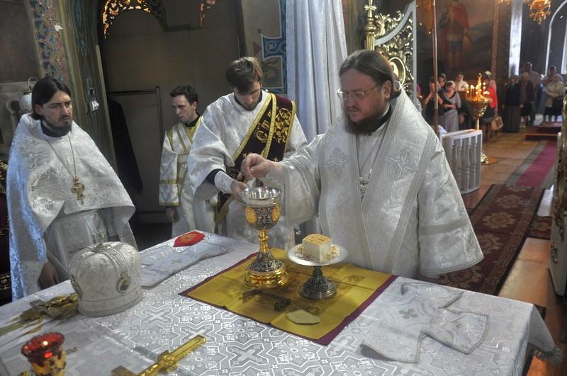 Епископ Боярский Феодосий совершил Литургию в день праздника Вознесения Господня
