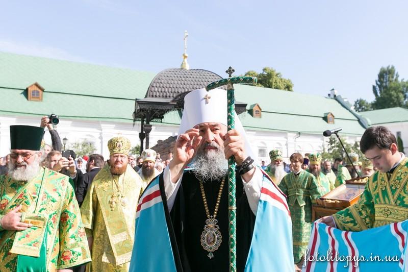 Єпископ Боярський Феодосій співслужив Предстоятелю у день пам'яті його небесного покровителя (+ВІДЕО)
