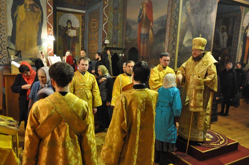 Єпископ Боярський Феодосій звершив всенічне бдіння напередодні Неділі 30-ї після П'ятидесятниці, святих праотців