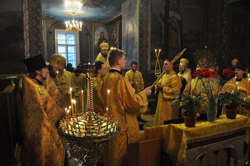 Епископ Боярский Феодосий совершил всенощное бдение накануне Недели о блудном сыне