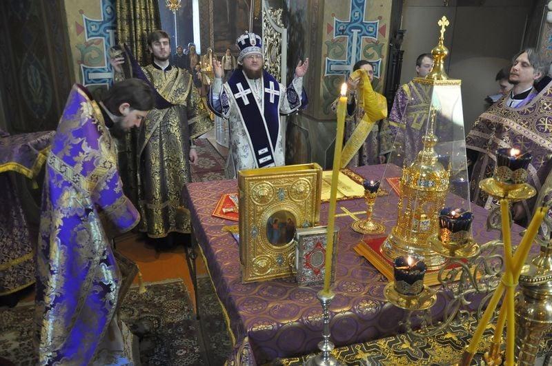 Єпископ Боярський Феодосій звершив Літургію в Неділю 5-у Великого посту