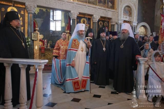 Єпископ Боярський Феодосій взяв участь у привітанні Предстоятеля УПЦ з нагоди свята Пасхи