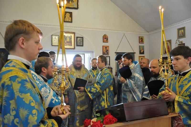 Єпископ Боярський Феодосій очолив богослужіння престольного свята в храмі Боголюбської ікони Божої Матері