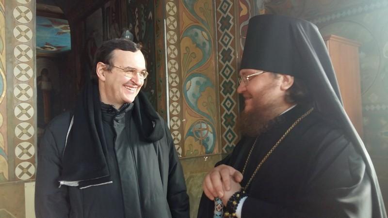 Епископ Боярский Феодосий встретился с профессором Адриано Роккуччи