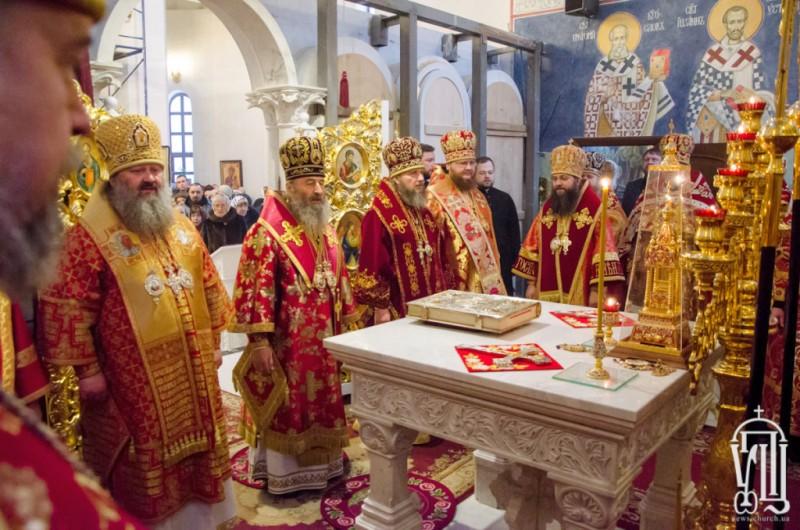 В день пам'яті вмц.Варвари, єпископ Боярський Феодосій співслужив Предстоятелю у храмі Північного київського вікаріатства