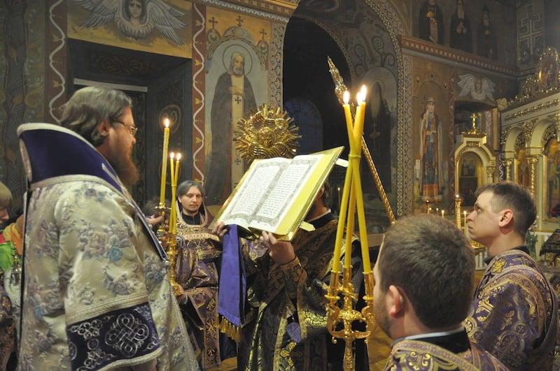 Епископ Боярский Феодосий совершил всенощное бдение накануне Недели 2-й Великого поста