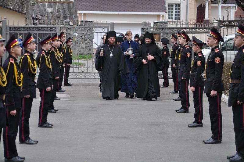 Епископ Боярский Феодосий благословил открытие спортивной секции во Владимирском кадетском корпусе г.Киева