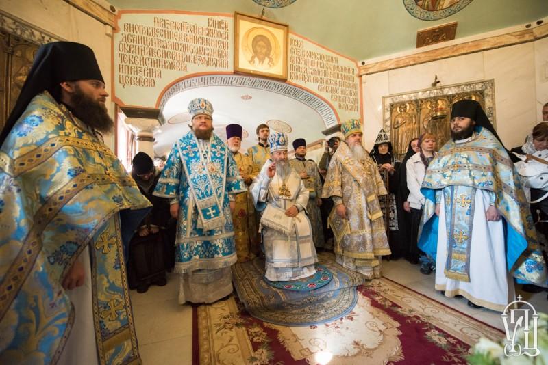 Епископ Боярский Феодосий сослужил Предстоятелю УПЦ за Литургией с чином прославления чудотворной иконы в Десятинном монастыре Киева (+BИДEO)