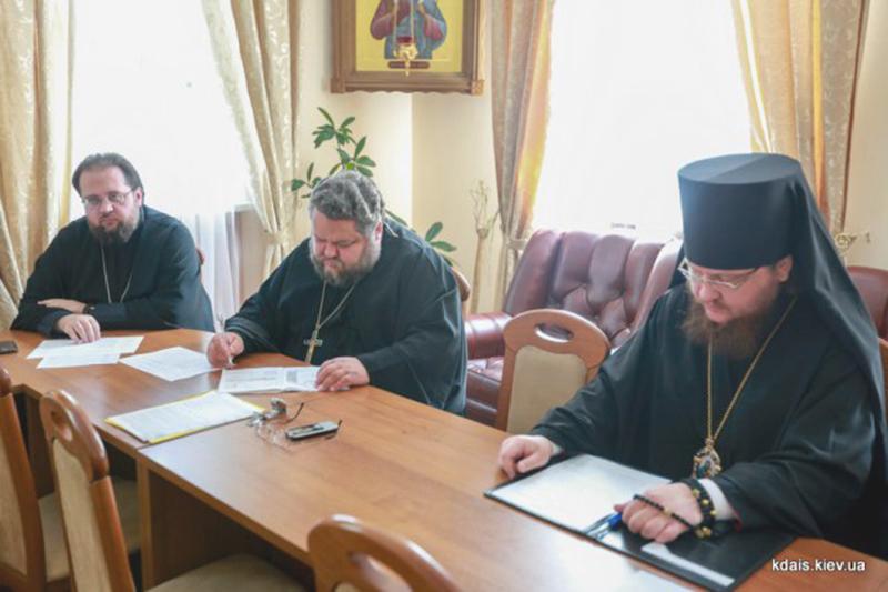 Єпископ Боярський Феодосій взяв участь у засіданні Вченої ради КДАіС та комісії по захисту магістерських робіт