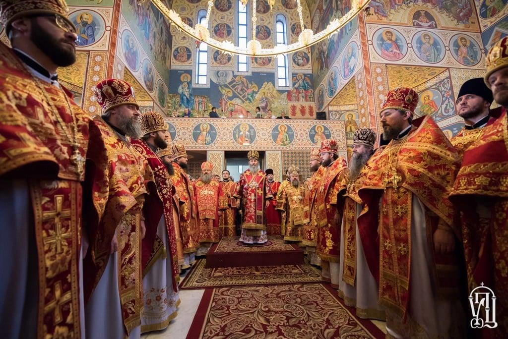 В день памяти вмц. Варвары, архиепископ Боярский Феодосий сослужил Предстоятелю УПЦ в храме Северного киевского викариатства (+ВИДЕО)
