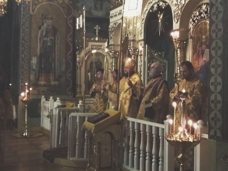 Архієпископ Боярський Феодосій звершив всенічне бдіння напередодні Неділі про митаря і фарисея