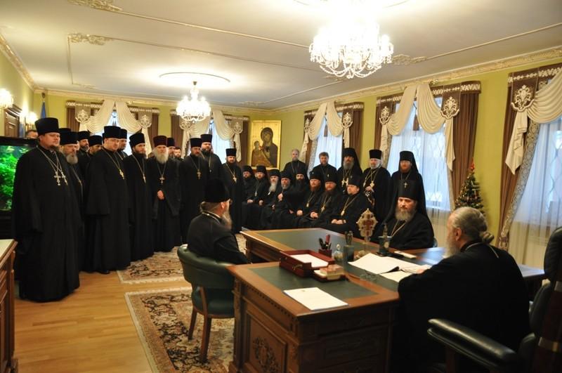 Блаженніший Митрополит Онуфрій провів збори з вікарними архієреями та благочинними Київської єпархії