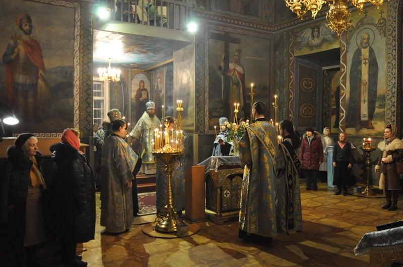 Архієпископ Боярський Феодосій звершив всенічне бдіння напередодні свята Стрітення