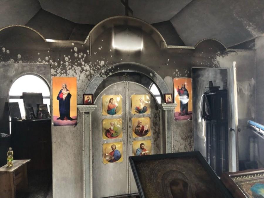 Скоєно черговий підпал храму в Північному київському вікаріатстві (+ВІДЕО)