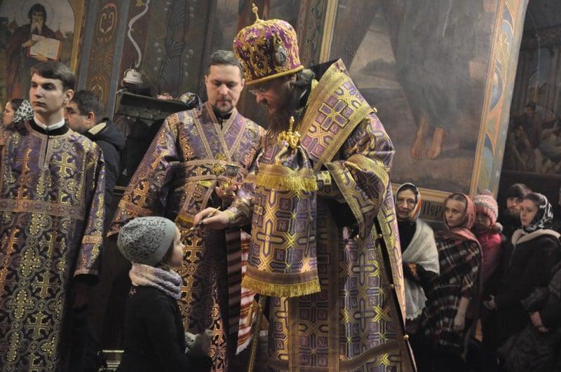 Архієпископ Боярський Феодосій звершив всенічне бдіння напередодні Неділі 3-ї Великого посту