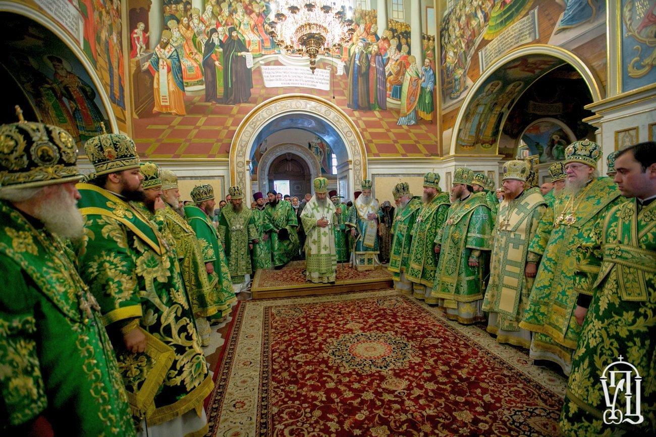 Напередодні дня пам'яті прп.Антонія Печерського архієпископ Боярський Феодосій співслужив Предстоятелю у Києво-Печерській Лаврі