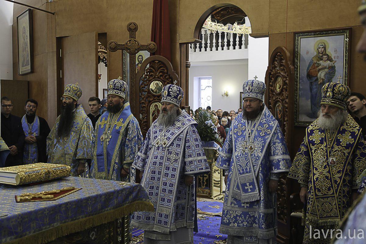 Архієпископ Феодосій співслужив наміснику Києво-Печерської Лаври митрополиту Павлу