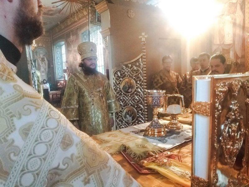 Архиепископ Феодосий совершил Литургию в Неделю 19-ю по Пятидесятнице