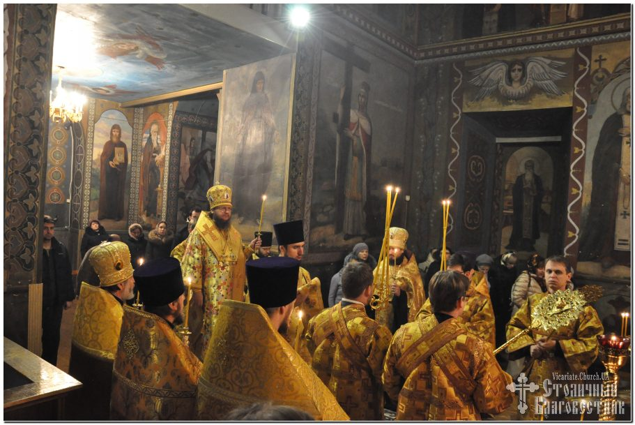 Архиепископ Феодосий совершил всенощное бдение накануне Недели 27-й по Пятидесятнице