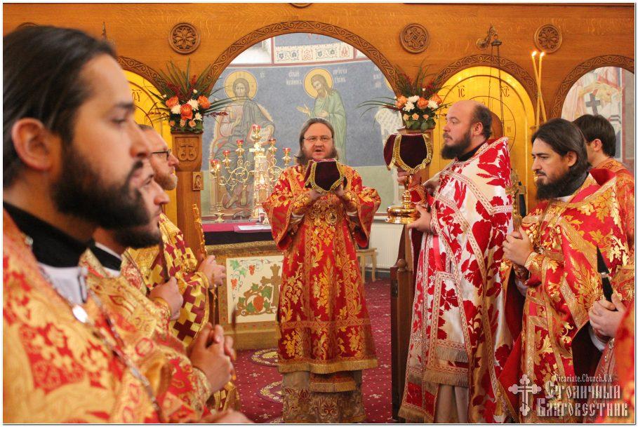 Архиепископ Феодосий возглавил богослужение престольного праздника в Екатерининском храме на Лукьяновке