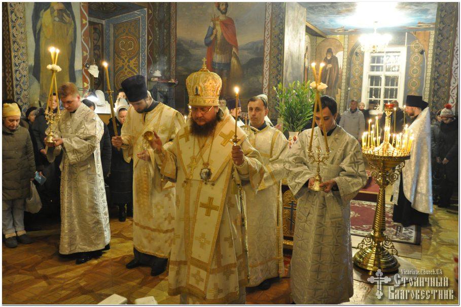 Архієпископ Феодосій звершив святкове всенічне бдіння напередодні Водохреща