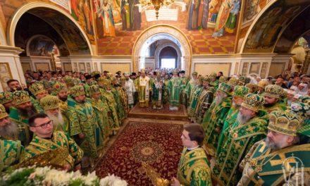 Накануне дня памяти прп.Онуфрия архиепископ Феодосий сослужил Предстоятелю УПЦ в Киево-Печерской Лавре