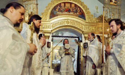 Архієпископ Феодосій звершив Літургію в день свята Вознесіння Господнього