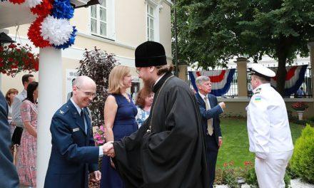 Архієпископ Боярський Феодосій відвідав посольство Сполучених Штатів Америки