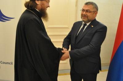 Архієпископ Боярський Феодосій взяв участь в прийомі посольства Республіки Вірменія