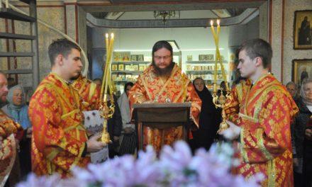 Архієпископ Феодосій звершив вечірнє богослужіння з акафістом Архістратигу Михаїлу
