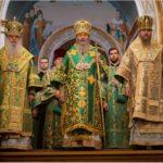 Напередодні дня пам'яті прп.Нестора Літописця архієпископ Феодосій співслужив Предстоятелю у Києво-Печерській Лаврі