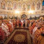 Архієпископ Феодосій співслужив Предстоятелю у Введенському монастирі Києва (+ВІДЕО)