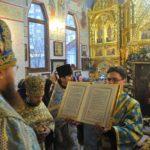 Архієпископ Феодосій, звершивши Літургію, разом з духовенством і народом вклонився чудотворному образу Данівської Божої Матері