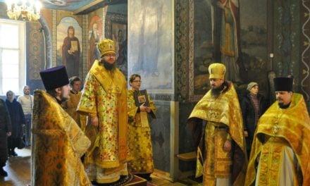 Архиепископ Феодосий совершил Литургию в Неделю мясопустную