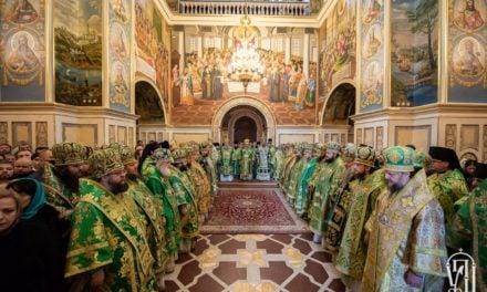 У день пам'яті Собору всіх прпп.Києво-Печерських архієпископ Феодосій співслужив Предстоятелю у Святій Лаврі (+ВІДЕО)