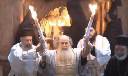 В Єрусалимі зійшов Благодатний вогонь (+ВІДЕО)