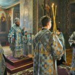 Архієпископ Феодосій звершив всенічне бдіння напередодні Благовіщення Пресвятої Богородиці