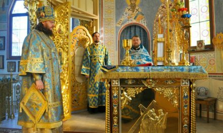 Архієпископ Феодосій звершив Літургію у свято Благовіщення Пресвятої Богородиці (+ВІДЕО)