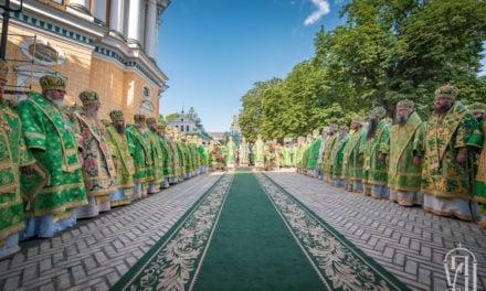 Архиепископ Феодосий сослужил Предстоятелю УПЦ в день памяти его небесного покровителя (+ВИДЕО)