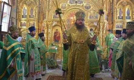 Архиепископ Феодосий совершил праздничное богослужение в День Святого Духа (+ВИДЕО)
